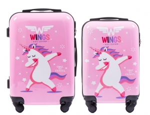 ZESTAW 2 WALIZEK WINGS JAY UNICORN S+XS
